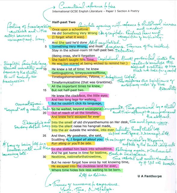 Edexcel Poetry 3