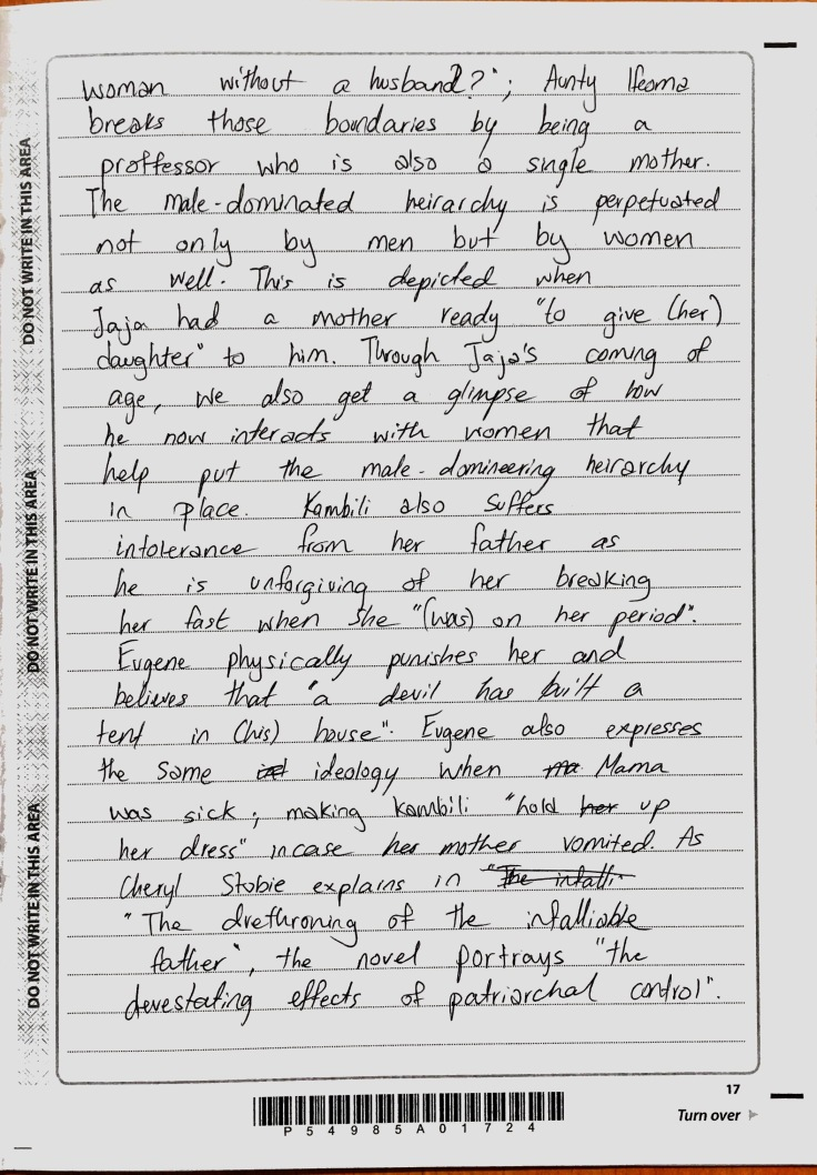 Purple Hibiscus - Suffering Essay (4)