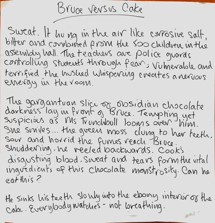 Creative Writing - Bruce vs. Cake