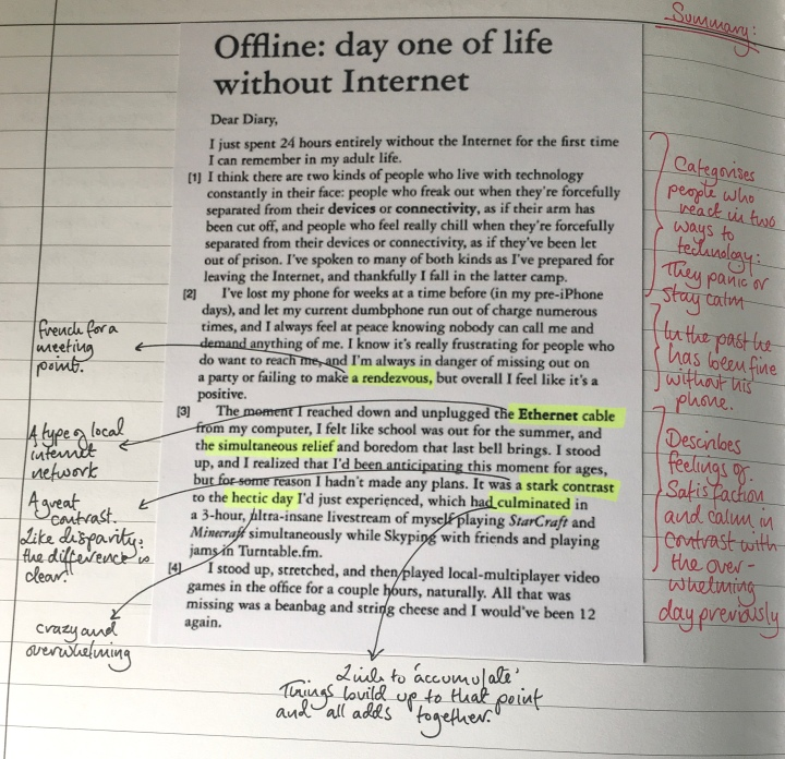 2. ESL - Life without the Internet Annotated 1